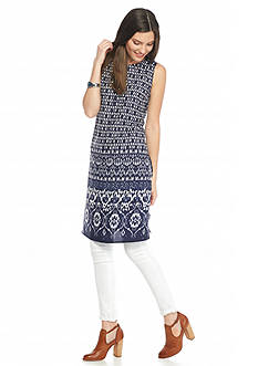 Vince Camuto Printed Sleeveless Tunic