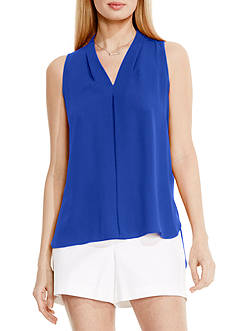 Vince Camuto Inverted Pleat Front Blouse