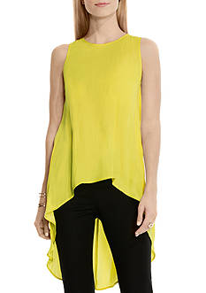 Vince Camuto Sleeveless High Low Blouse
