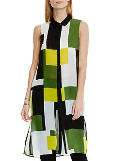 Vince Camuto Block Print Extreme Tunic