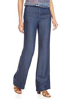 Vince Camuto Chambray Wide Leg Pants