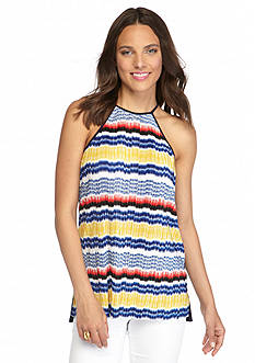 Vince Camuto Pleat Front Halter Tank