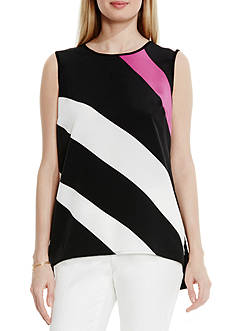 Vince Camuto Panel Mix Media Top
