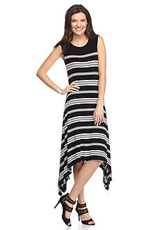 Vince Camuto Stripe Island Shark-bite Dress