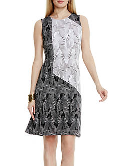 Vince Camuto Colorblock Graphic Stripe Dress