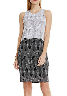Vince Camuto Graphic Print Popover Dress