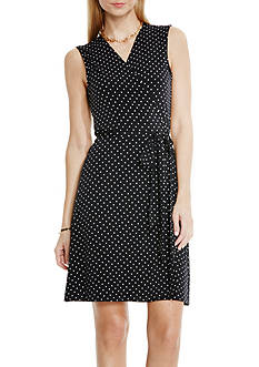 Vince Camuto Pin Dot Wrap Dress