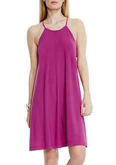 Vince Camuto Solid Halter Swing Dress
