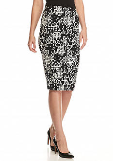 Vince Camuto Dotted Knit Pencil Skirt