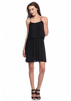 Vince Camuto Pleated Popover Tank Dress