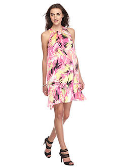 Vince Camuto Sleeveless Tropical Printed Dress