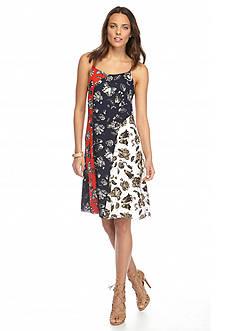 Vince Camuto Colorblock Floral Dress