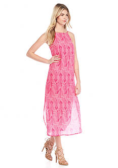 Vince Camuto Graphic Print Sleeveless Maxi Dress