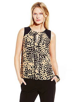 Vince Camuto Animal Dashes Blouse