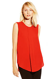 Vince Camuto Sleeveless Centerpleat Blouse