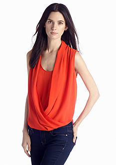 Vince Camuto Wrap Front Shirt Tail