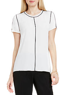 Vince Camuto Contrast Piping Blouse