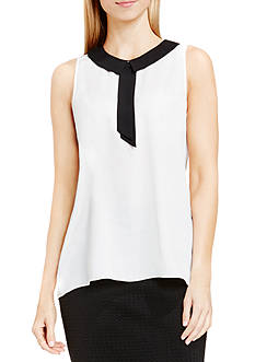 Vince Camuto Contrast Collared Blouse