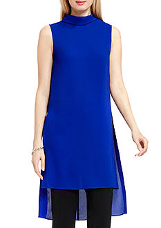 Vince Camuto Fold-over Collar Tunic