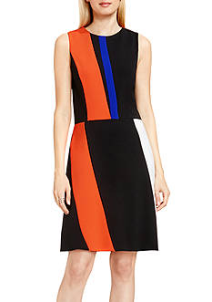 Vince Camuto Colorblock Ponte Dress