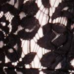 Women's Designer Dresses: Rich Black Vince Camuto Scallop Lace Dress
