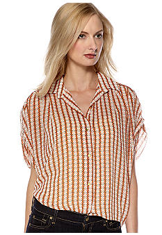 Vince Camuto Button Down Stripe Top