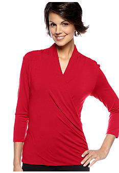 Vince Camuto 3/4 Sleeve Wrap Top