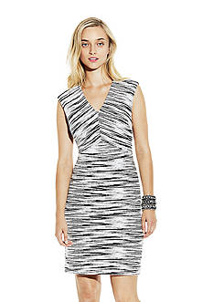 Vince Camuto Jacquard Cap Sleeve Dress