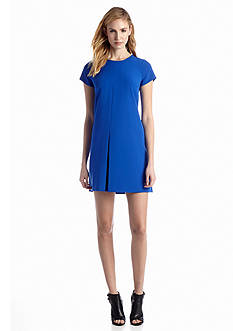 Vince Camuto Cap Sleeve Pleat Dress