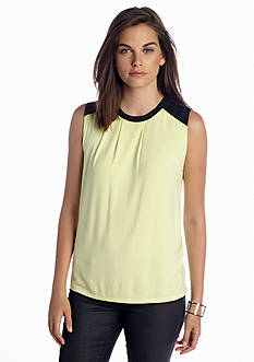 CHAUS Sleeveless Solid Shell Top