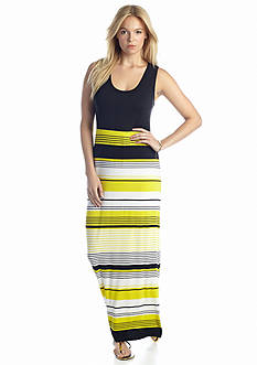 CHAUS Delicate Stripe Maxi Dress