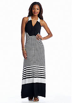 CHAUS Striped Maxi Dress
