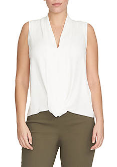 CHAUS Sleeveless Splitneck Blouse