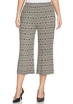 CHAUS Wide Leg Print Pant