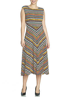 CHAUS Sleeveless Multicolor Dress