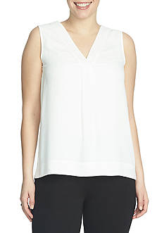 CHAUS Sleeveless Solid Blouse