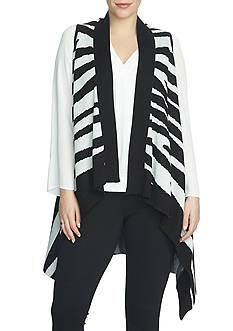 CHAUS Sleeveless Sweater Vest