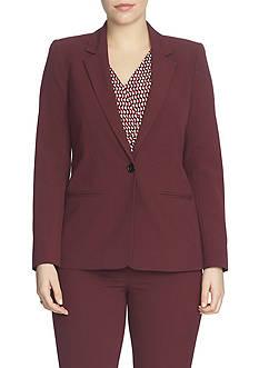 CHAUS Long Sleeve One Button Blazer