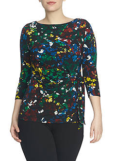 CHAUS Side Knot Enchanted Petals Top