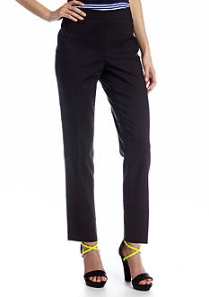 CHAUS Doubleweave Side Zip Ankle Pant