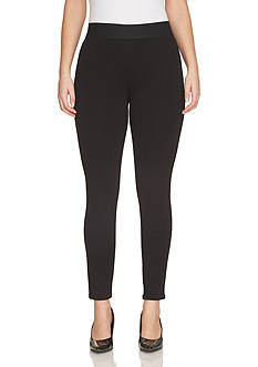 CHAUS Ponte Ankle Zip Leggings