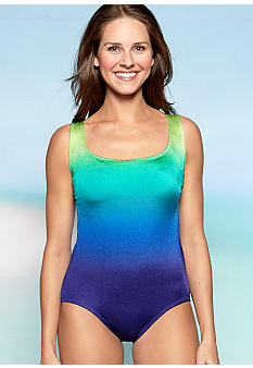Longitude Ombre Cross Back Tank One Piece