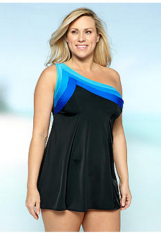 Longitude Color Block Swim Dress