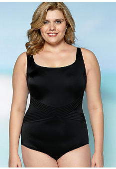 Longitude Plus Size Little Black One Piece