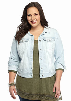 Jessica Simpson Plus Size Embroidered Pixie Jacket
