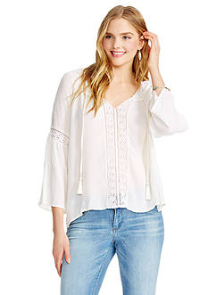 Jessica Simpson Alaya Peasant Top