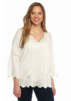 Jessica Simpson Plus Size Alaya Peasant Top