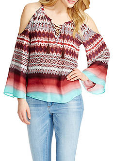 Jessica Simpson Shayna Cold Shoulder Peasant Top