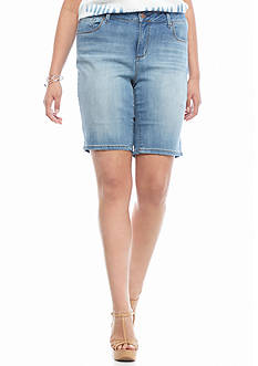 Jessica Simpson Plus Size Maxwell Bermuda Shorts