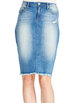 Jessica Simpson Haven Jean Skirt